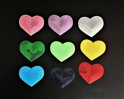 Sew on & iron on Sequin heart patches(various colours)