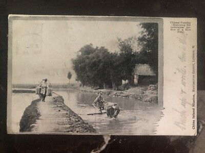 1903 Taunton England RPPC Postcard Cover China Inland Mission To Newcastle