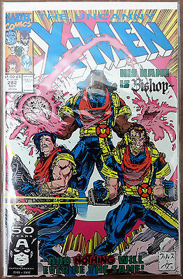 UNCANNY X-MEN #282 1991 MARVEL 1st BRIEF APPEARANCE BISHOP KEY ISSUE