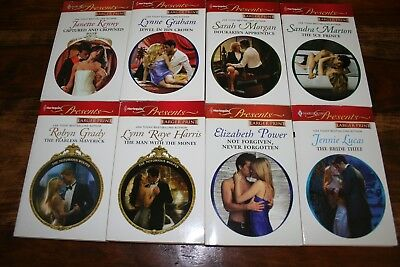 Lot Of 8 Harlequin Presents (Large Print) Novels Love Stories