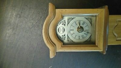 Longcase clock 420mm high pine
