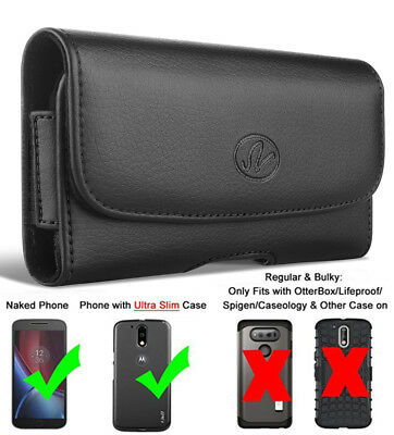 For iPhone X Horizontal Premium Leather Pouch Holster Case Cover with Belt Clip