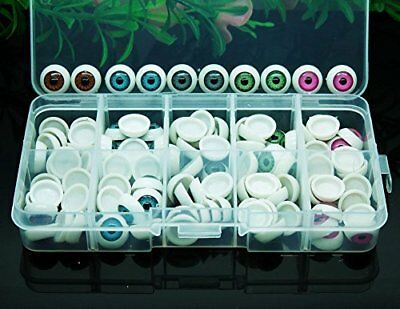100pcs/box 12mm Doll Eyeballs Half Round Acrylic Eyes for DIY Doll Bear Crafts