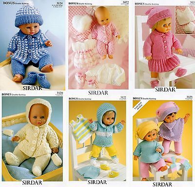 Dolls Clothes Sirdar Knitting Patterns 299 Picclick Uk