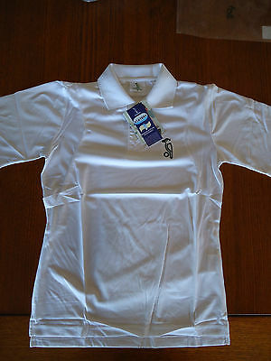 Cricket Shirt White Short Sleeve Large L Kookaburra Stay Dry Brand New Free Post
