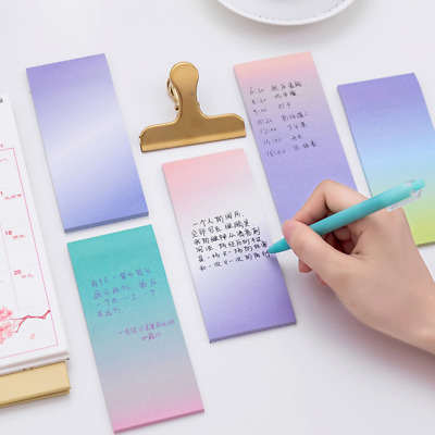Gradual Long Rectangle Sticky Adhesive Page Markers Memo Sticker Notes 141x60mm