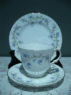 Duchess Bone China Trio - Tranquility - Cup Saucer Plate - Vintage High Tea Vgc