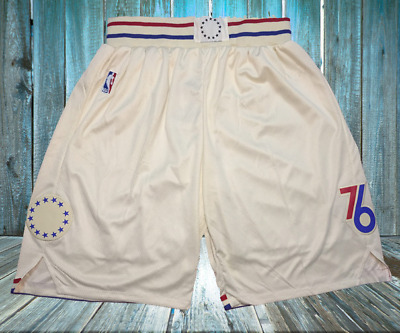 new styles adac8 90765 Philadelphia 76ers Vintage Basketball Game Shorts NBA Men s NWT Stitched  Pants