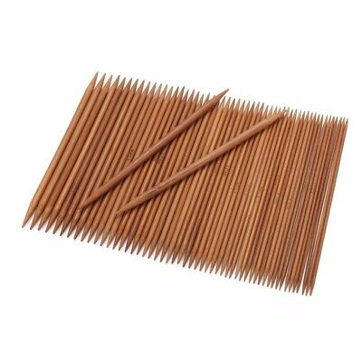 55Pcs 11sizes 5'' 13cm Double Pointed Carbonized Bamboo Knitting Needles