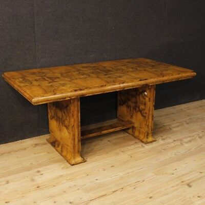 Dining table Italian Art Deco furniture antique style wood burl walnut 900
