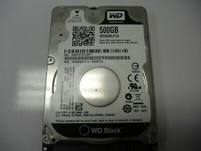 "Western Digital 2.5"" SATA 500GB 7200RPM HDD Laptop Hard Drive WD5000LPLX-00ZNTT0"