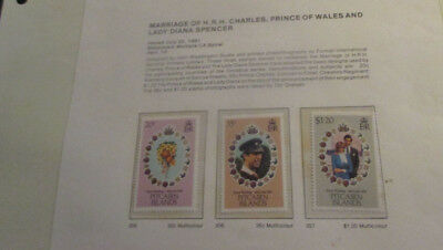 No--4-1981  PITCAIRN  ISLAND  -MARRIAGE  OF  CHARLES  &  DIANA   3  STAMPS---MNH
