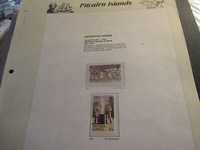 No--5-1981  PITCAIRN  ISLAND  -DEFINITIVE  SERIES  2  STAMPS---MNH