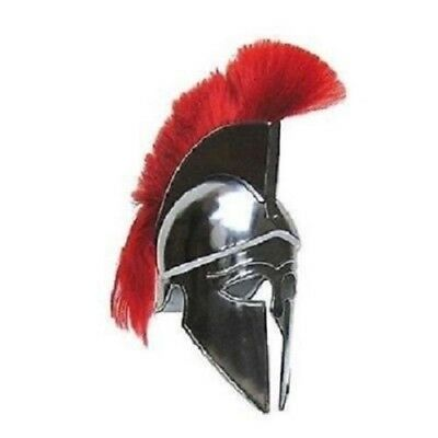 SIGNANEW TROY Armor Red Crest Plume Corinthian Centurion Steel Spartan Gladiator