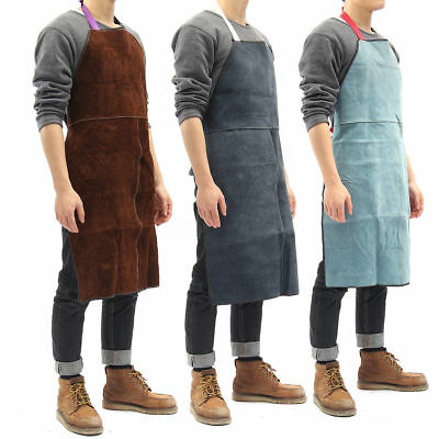 60*90cm Welding Apron Heat Insulation Cow Leather cowhide Welder Protection New