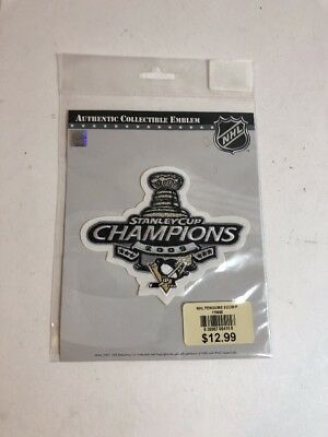 2009 NHL Stanley Cup Final Champions Logo Pittsburgh Penguins Patch Jersey 713ed16e9