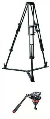 Manfrotto Aluminum Tripod Ground 62.4 Max Height 8.82lbs Counterbalance Support