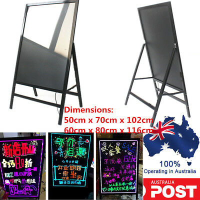 LED Flashing Illuminated Erasable Neon Message Menu Writing Sign Board 2 Sizes
