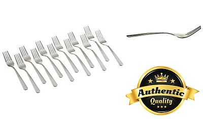 Stainless Steel Dominion Salad Fork Set For Home Restaurant Catering 12 Pcs New