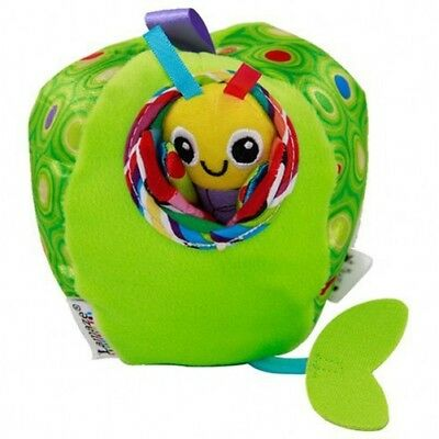 Baby Kids Children Rattles Crinkle Tug & Pull Apple Worm Developmental Soft Toy