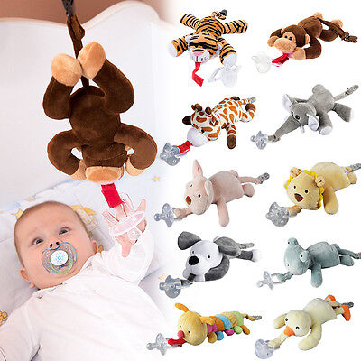 Mary Meyer Wubbanub Infant Baby Soothie PACIFIER ~ You Choose Animal &L