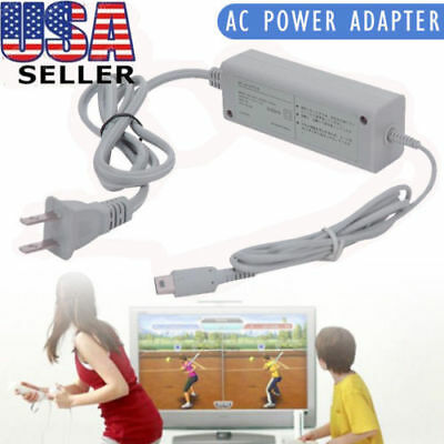 Fast Charging AC Charger Home Power Supply Gray Wall Plug for Wii U Gamepad