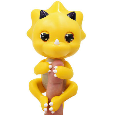 Cute Baby Dinosaur Style Finger Playing Pet Toy - Yellow