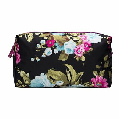 Pochette Da Viaggio Jjdk  Essential Nero Con Le Rose Colorate Grande