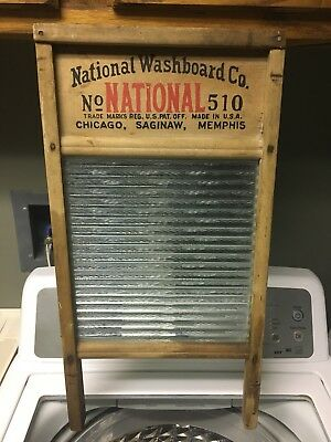 Vintage National Atlantic Washboard Co. # 510 Original Glass Paint