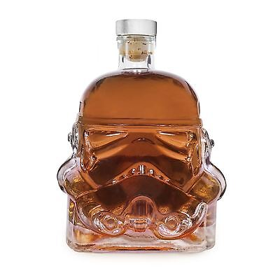 Star Wars Stormtrooper Glass Drinks Decanter Whisky Sherry Liquer Trooper Helmet