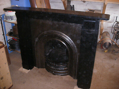 Excellent reclaimed Victorian slate fireplace surround.