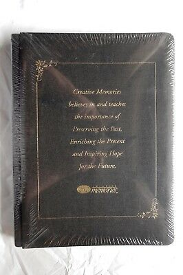 Creative Memories Black 8.75x12.25 A4 Album BNIP WITH WHITE PAGES - CM Motto
