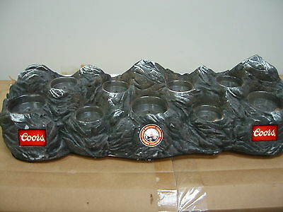 Coors Beer Bottle Glorifier Simulated Mountains holds 9 bottles