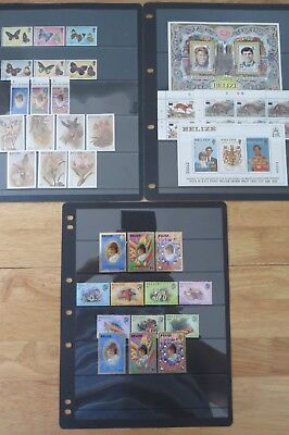 (38) Belize Mostly Mnh Collection In Sets, Ms & Part Sets Cat £55+