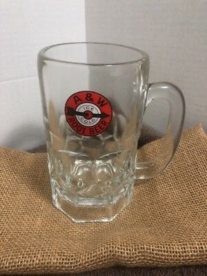"""Vintage A & W Root Beer Mug 6"""" Tall With Classic Logo"""