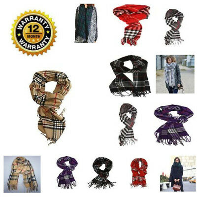 Women's Accessories Soft Feel Winter Scarf England Classic Print Check Blanket