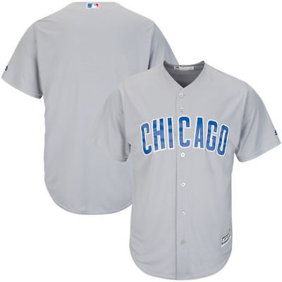 Chicago Cubs Majestic Athletic Cool Base Road Baseball Jersey