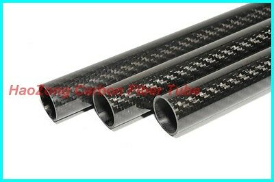 Factory Supply 20mm OD X 16mm ID X 1000MM Roll Wrapped Carbon Fiber Tube 3K US-1