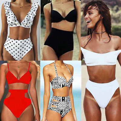 Women High Waisted Swimwear Push up Bikini Swimsuit two pieces Beach Bathing set