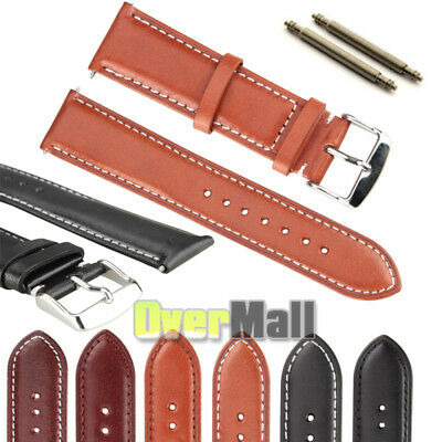 Men Women Leather Watch Strap Band TWISTER Stainless Steel Buckle 18 20 22 24mm