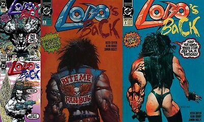LOBO'S BACK #1-4, Complete Set, Simon BISLEY Covers, Nice! NM New (1992) DC