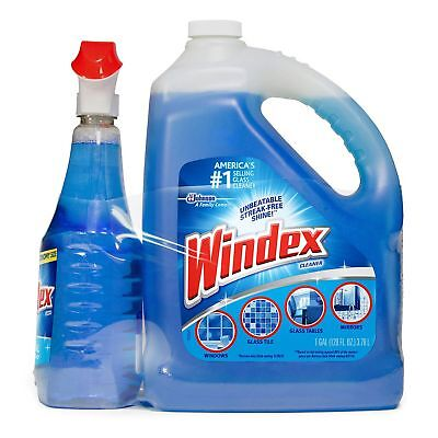 Windex Original Glass Cleaner 128 oz. refill + 32 oz. trigger Cleans and Shines