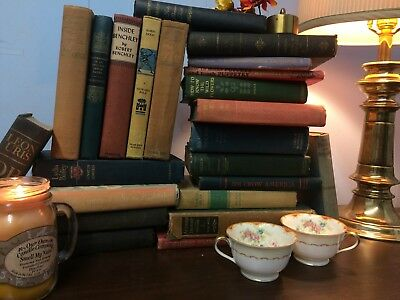 Lot of 10 Vintage Old Pre-1900 Antique Books  All Hardcover Unsorted