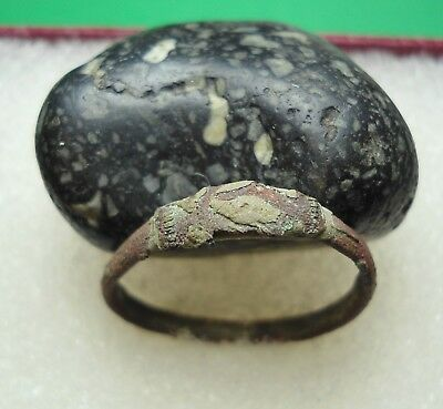 Ancient Roman Bronze Ring Original Authentic Antique Rare R173