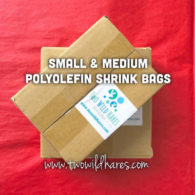 "1000-Polyolefin (Smell Thru) Shrink Bags in 2 Sizes, (4x6"", 6x6.5"") 75g, USA"