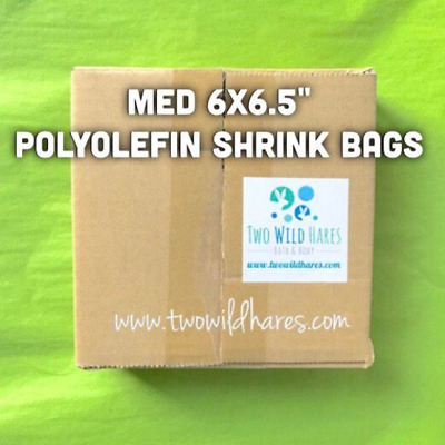 """500-6""""x6.5"""" Polyolefin Shrink Bags (smell through), 75g, BEST Wrap Available!"""