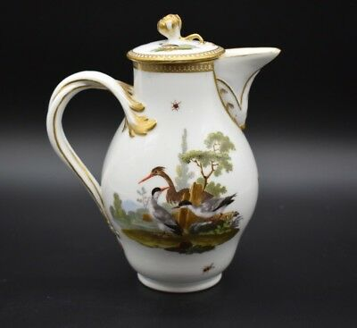 Meissen German Marcolini Period Orinithological Birds Insects & Gold Coffee Pot