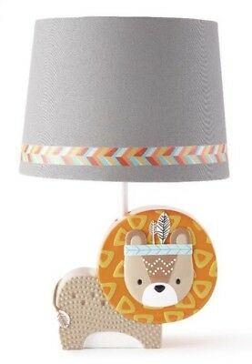 New Levtex Baby Zambezi Lion Lamp & Shade Infant Unisex Nursery Room Decor