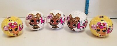 Lot of 5 Pet and Glitter LOL Surprise DOLL 7 Layers L.O.L Big Sisters Free Ship