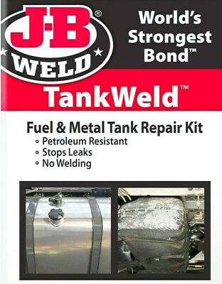TankWeld Repair KIT Gas Fuel Metal Tank & oil pan Stop Leak EPOXY J-B WELD 2110